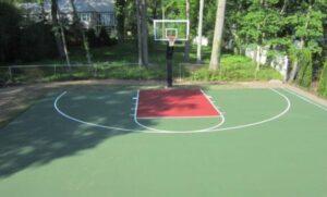asphalt backyard court