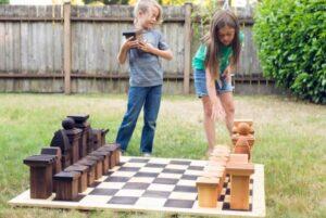 yard chess backyard idea