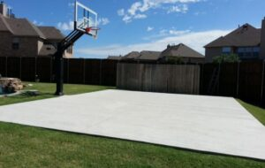 the concrete backyard court