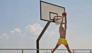 stabilize basketball hoops