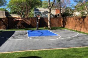 small yard backyard court design