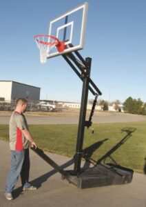 how to move basketball hoops