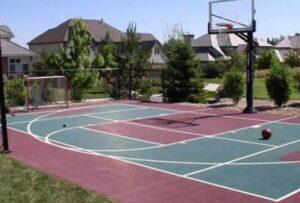 textured backyard court