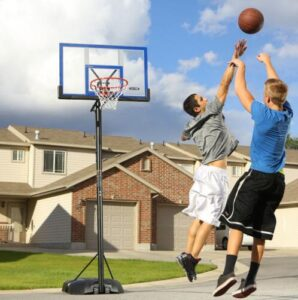 how to fill portable basketball hoops
