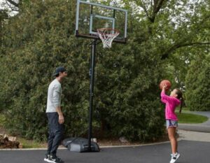 how to fill your portable basketball hoop