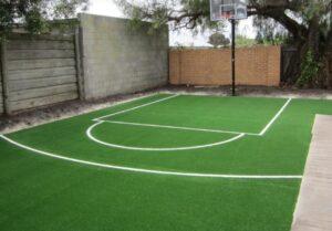 artificial turf grass outdoor basketball court surface