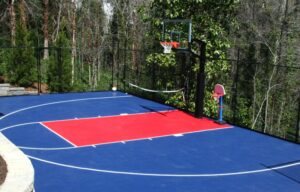 outdoor surface for basketball court
