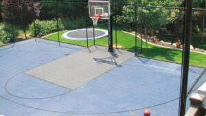 best surface for outdoor basketball court