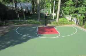 professional surface for outdoor basketball court