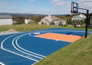 best basketball outdoor court surface