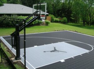 outdoor basketball court surface selecting