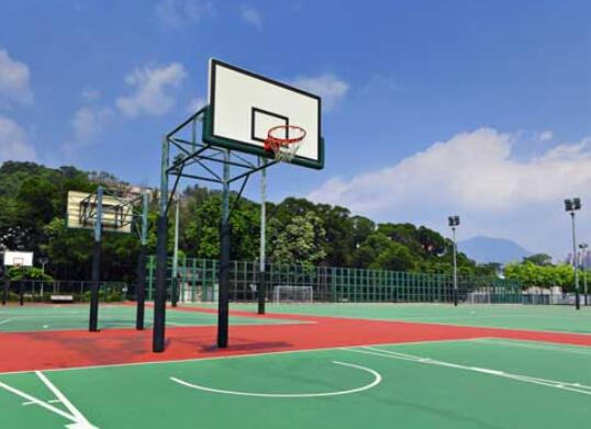 professional outdoor basketball court surface