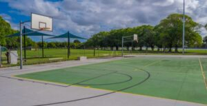 outdoor basketball court surface plans