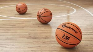 outdoor basketball surface with wooden material